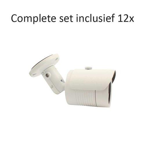 CC-CS12BC1 - 16 kanaals CVR inclusief 12 CC-BC1 camera's