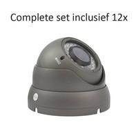 CC-CS12DC2 - 16 kanaals CVR inclusief 12 CC-DC2 camera's