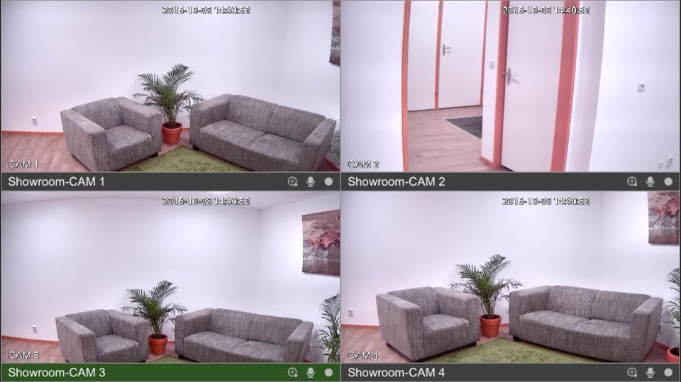 4 bewakingscameras op telefoon