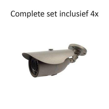 CF-CS04BC2 - 4 kanaals CVR inclusief 4 CF-BC2 camera's