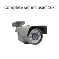 CF-CS16BC3 - 16 kanaals CVR inclusief 16 CF-BC3 camera's
