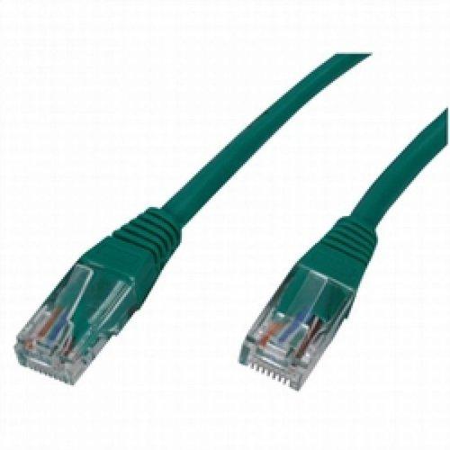 1 meter UTP netwerkkabel met RJ45 stekkers - Groen