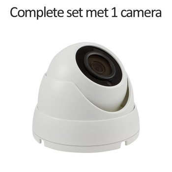 CC-CS01DC1-W - 4 kanaals CVR inclusief 1 witte CC-DC1 camera