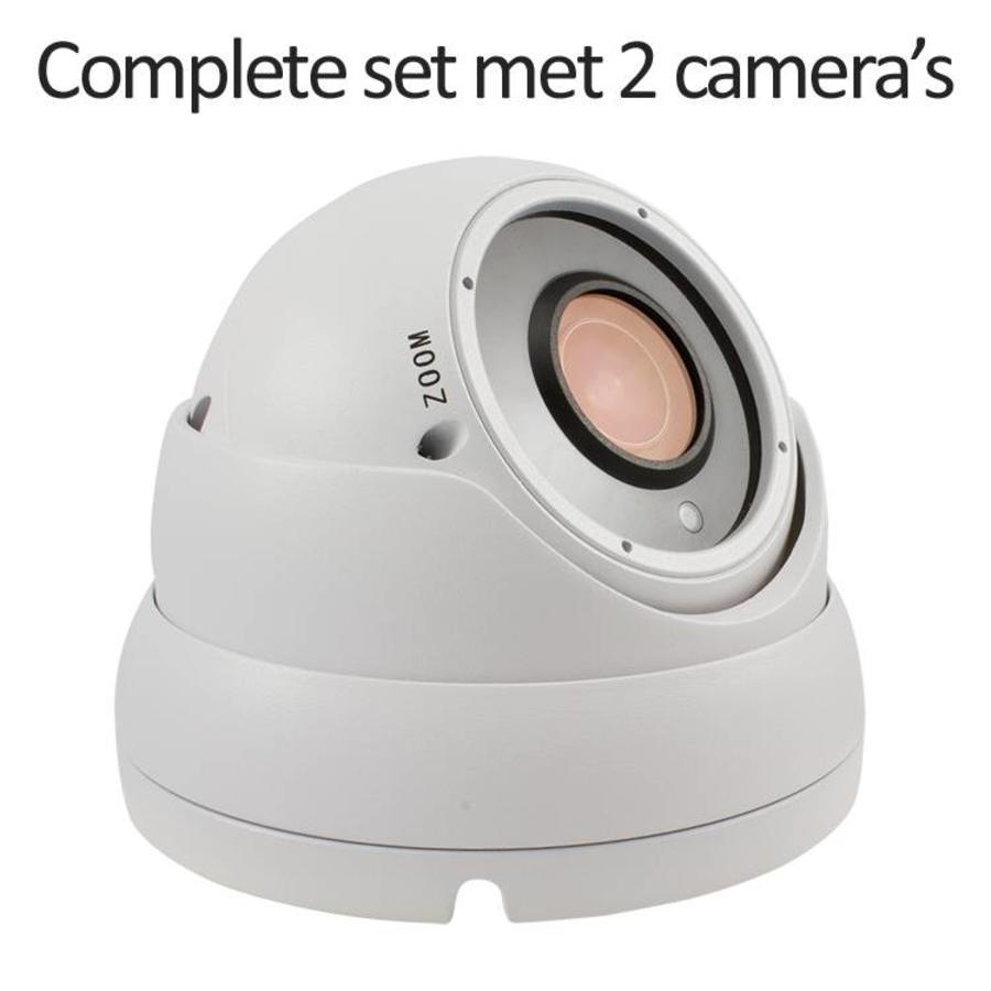 CC-CS02DC2-W - 4 kanaals CVR inclusief 2 witte CC-DC2 camera's