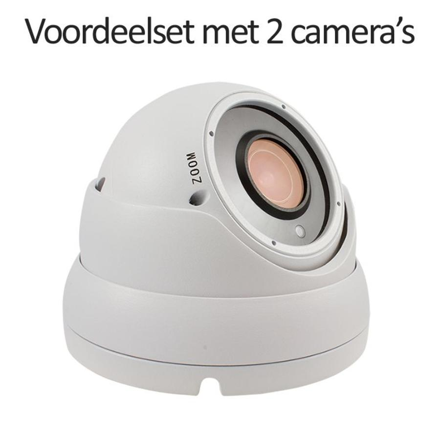 CHD-CS02D1-W - Set met recorder en  2x CHD-D1 IP camera's