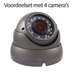 CHD-CS04D1 - 4 kanaals NVR inclusief 4 CHD-D1 IP camera's