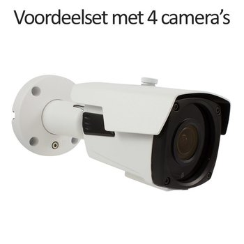 CHD-CS04B4 - 4 kanaals NVR inclusief 4 CHD-B4 4.0 MP IP camera's
