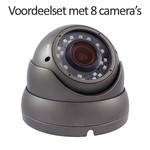 CHD-CS08D1 - 9 kanaals NVR inclusief 8 CHD-D1 IP camera's