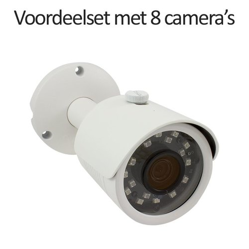 CHD-CS08B3 - 9 kanaals NVR inclusief 8 CHD-B3 IP camera's