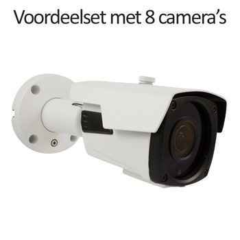 CHD-CS08B4 - 9 kanaals NVR inclusief 8 CHD-B4 4.0 MP IP camera's