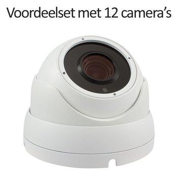 CHD-CS12DA3-W - 16 kanaals NVR inclusief 12 witte CHD-DA3 IP camera's
