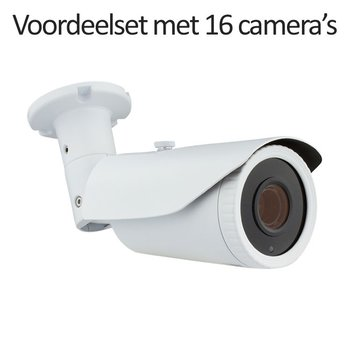 CHD-CS16B1 - 16 kanaals NVR inclusief 16 CHD-B1 IP camera's