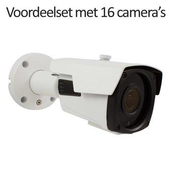 CHD-CS16B4 - 16 kanaals NVR inclusief 16 CHD-B4 4.0 MP IP camera's