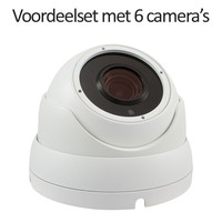 CHD-CS065MD1-W - 9 kanaals NVR inclusief 6 witte CHD-5MD1 5 MegaPixel IP camera's