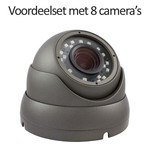 CHD-CS085MD1 - 9 kanaals NVR inclusief 8 CHD-5MD1 5 MegaPixel IP camera's
