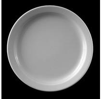 Elih Germany Flat Plate menu dish Speiseteller ca.26,5cm Hotel Porcelain White