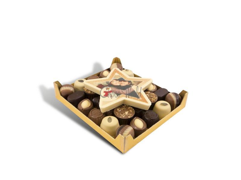 Chocolaterie Vink Slagroom bonbons assortie klein met chocolade kerstster
