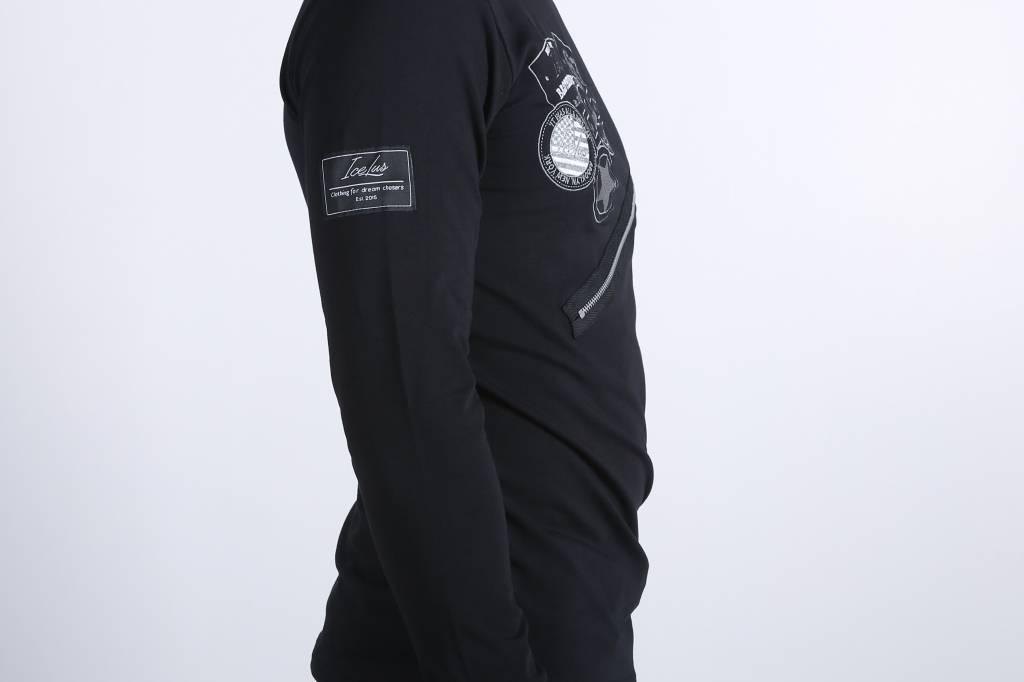 Icelus Clothing Zipper Longsleeve Black
