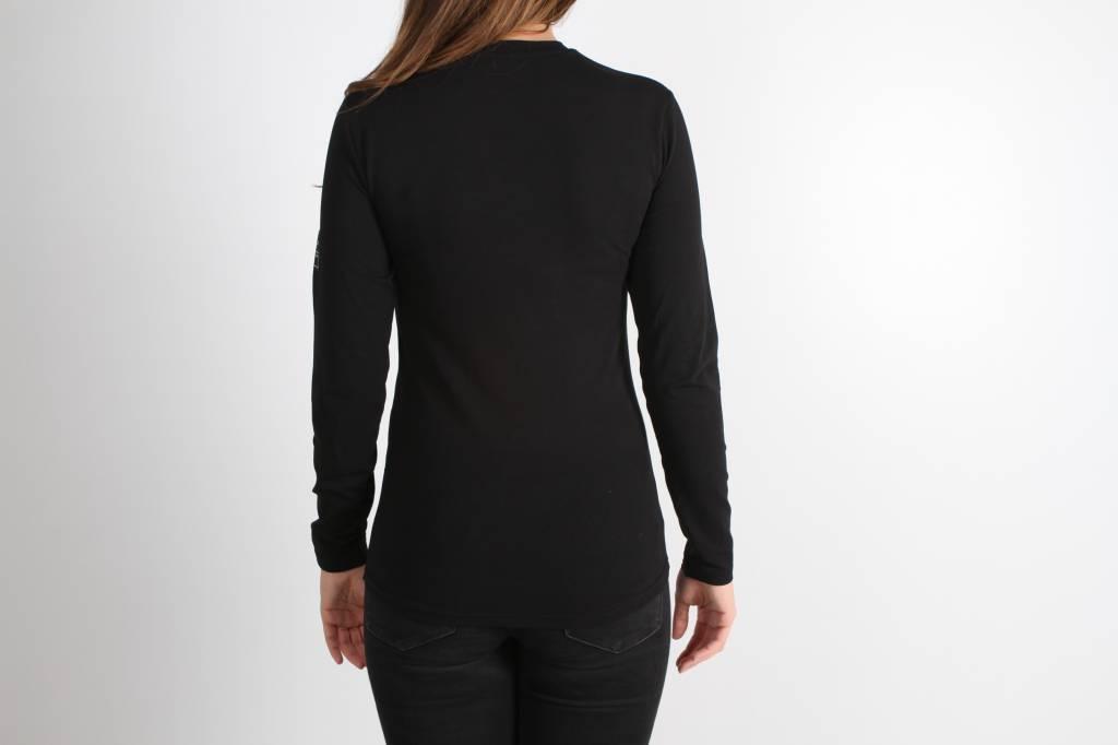 Icelus Clothing Zipper Longsleeve Black Women