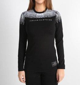 Icelus Clothing Wing Longsleeve Black/White Women
