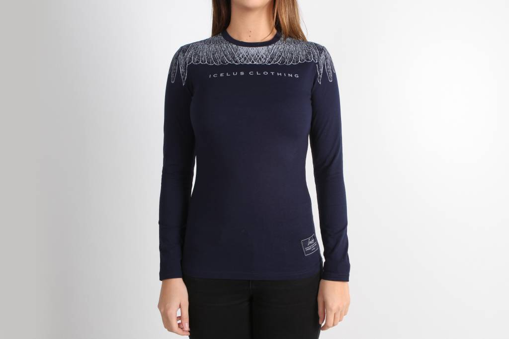 Icelus Clothing Wing Longsleeve Blue Women