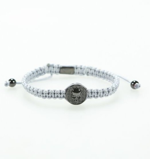 Icelus Clothing Grey Skull Bracelet