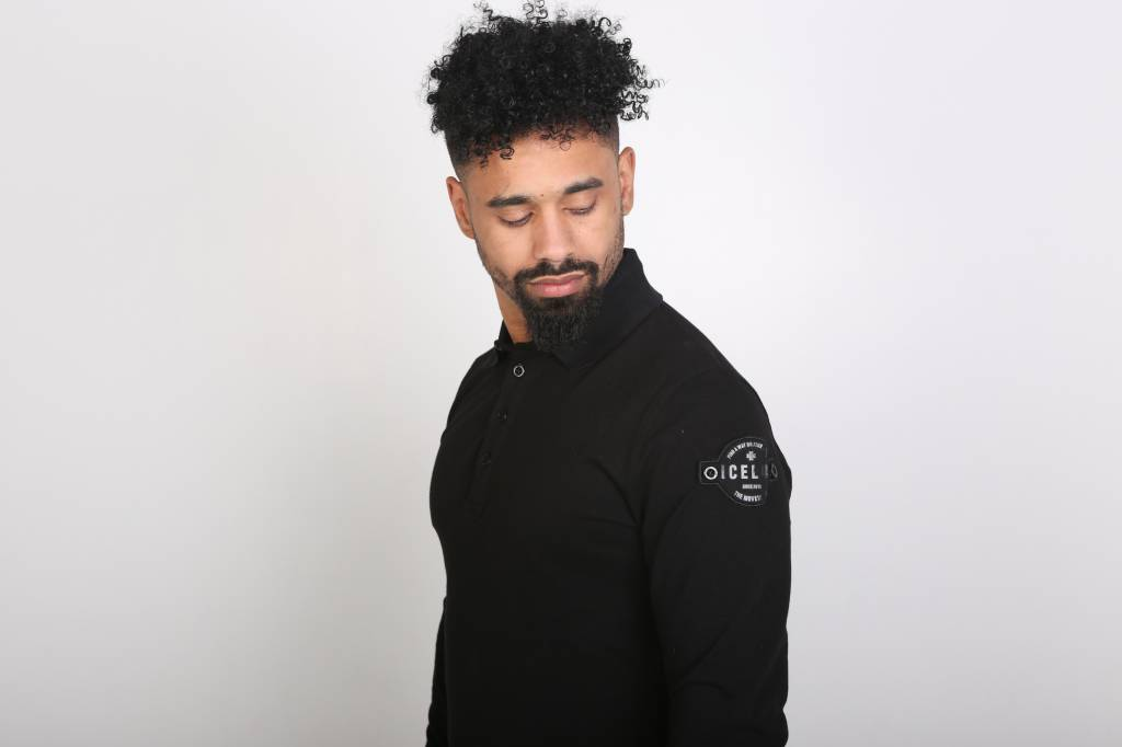 Icelus Clothing Patch Polo Longsleeve Black