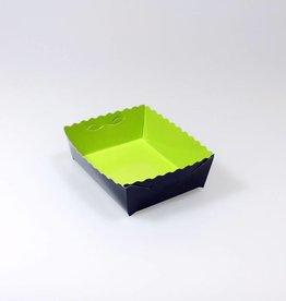 Dessertkorfjes limoen/zwart - 50 stuks