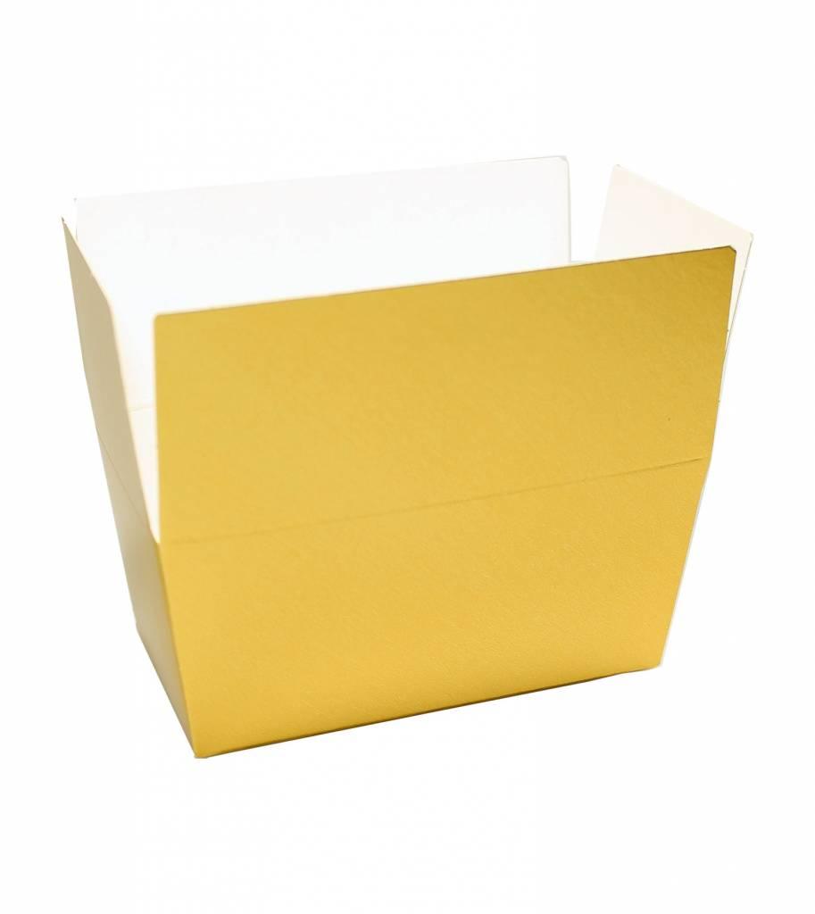 Ballotin glanzend goud/wit - 100 stuks