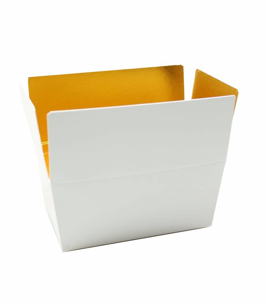 Ballotin glanzend wit/goud - 100 stuks