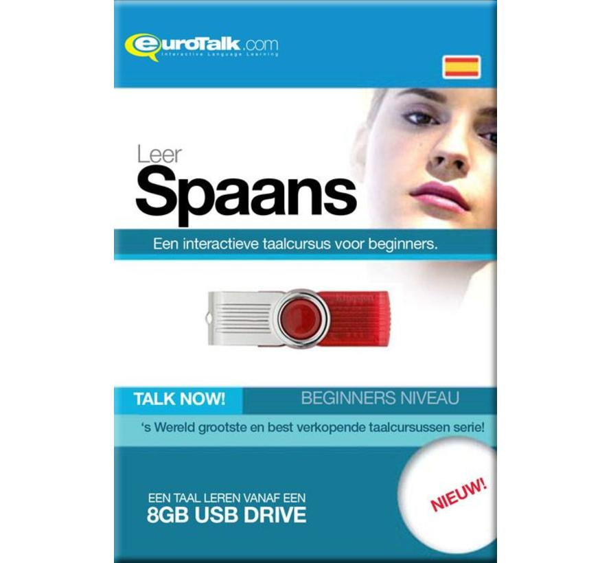Basis cursus Spaans Beginners - Talk now Spaans Leren (USB)
