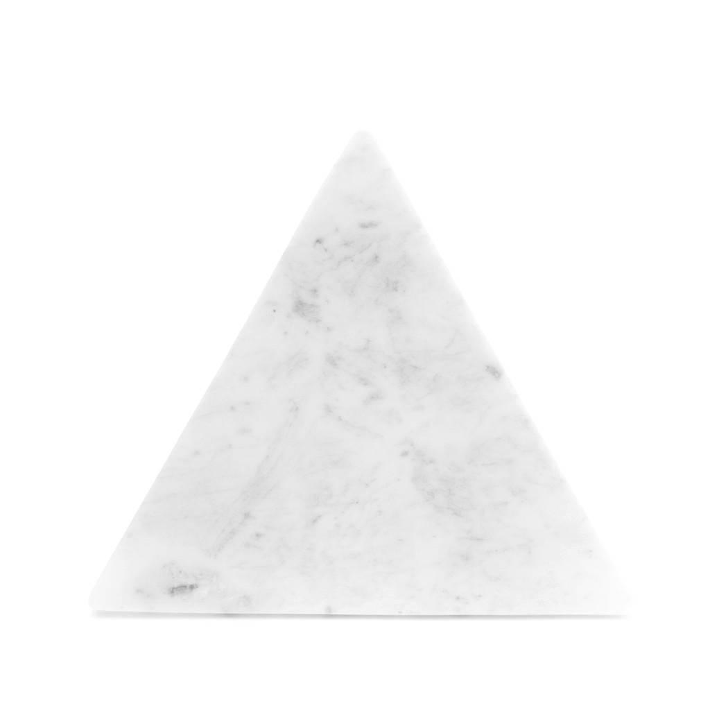 White marble triangle platter