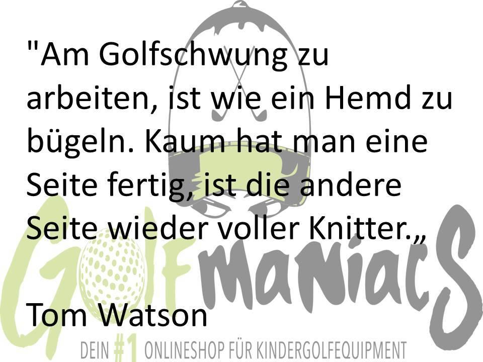 Tom Watson über Golftraining