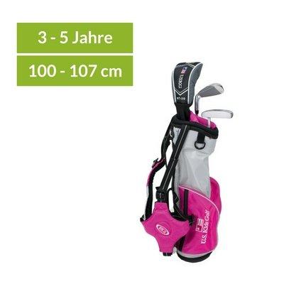 U.S. Kids Golf Ultralight 39 - 3 Schläger-Carry-Bag-Set pink