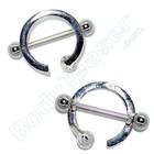 "Nippel Piercing ""Ring"", 925 Silber"