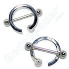 "Nipple Piercing ""Ring"" 925 Silver"