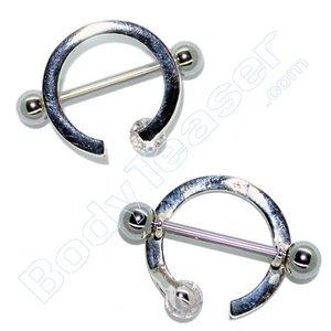 Nippel-Piercing Schmuck Ring, 925 Silber