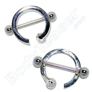 Tepelpiercing sieraad Ring, 925 zilver