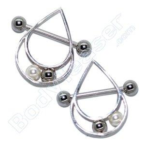 Nippel-Piercing Schmuck 3D Ballspiel , 925 Silber