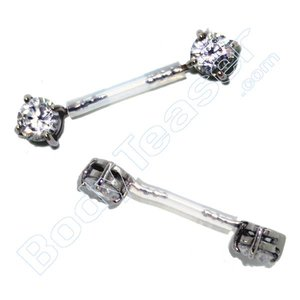 Intimate Piercing Jewelery Crystal, Surgical Steel