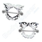 "Nipple Shield ""Butterfly"" 925 Silver"