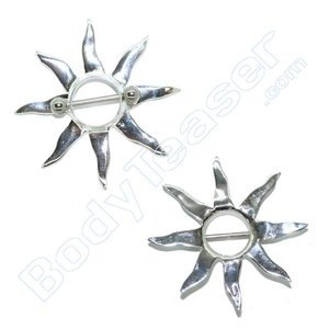 Nipple Piercing Jewelery, Superbowl shield, 925 Silver