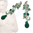 Nipple dangles with Two tone crystal with clear CZ