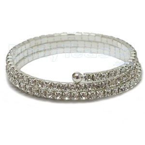 Spiral Armlet with Rhinestones