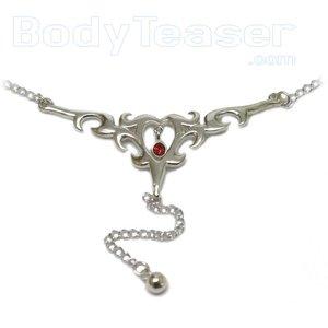 Back Belly Chain Bauchkette von massivem Sterling Silber