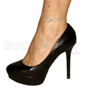 Slave Gift - Silver Handcuff anklet