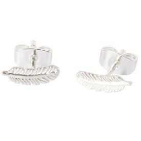 Little Feather Stud Earring - Silver