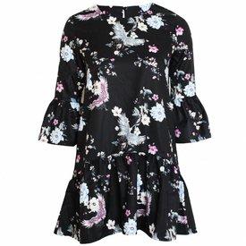 Japanese Flower Dress - Black