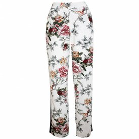 Japanese Floral Pants - White