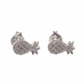 Pineapple Stud Earring Silver
